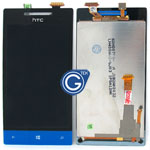 HTC 8S Complete LCD with Navigation Light Flex in Black and Blue
