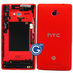 HTC 8X Rear Housing in Red with Volume Flex