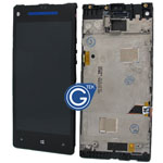HTC 8X Complete LCD with Digitizer and Frame (Without HTC Logo)