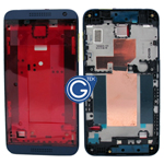 HTC Desire 610 LCD Frame with Side Button in Blue