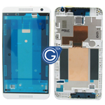 HTC Desire 610 LCD Frame with Side Button in White