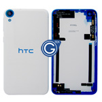 HTC Desire 820 Rear Housing with Side Button in White