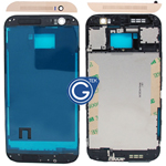 HTC One (M8) LCD Frame Black with Gold Top and Bottom Cover