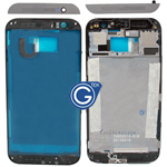 HTC One (M8) LCD Frame Black with Grey Top and Bottom Cover