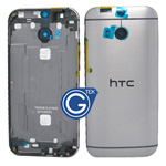 HTC One (M8) Rear Housing with Side Button in Grey