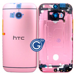 HTC One (M8) Rear Housing with Side Button in Pink