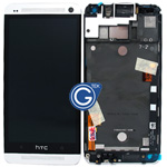 HTC One (M7) Complete Lcd Screen and Touchpad with frame - Silver