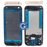 HTC One Mini 2 (M8 Mini) LCD Frame Black with Gold Top and Bottom Cover