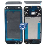 HTC One Mini 2 (M8 Mini) LCD Frame Black with Grey Top and Bottom Cover