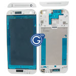 HTC One Mini 2 (M8 Mini) LCD Frame White with Silver Top and Bottom Cover