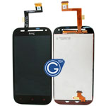 HTC One SV Complete LCD with digitizer and Navigation Light Flex in black