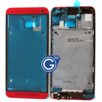 HTC One,HTC M7 LCD Metal Frame Red