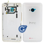HTC One,HTC M7 Rear Housing with Side Button in Silver