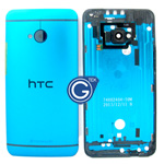 HTC One,HTC M7 Rear Housing with Side Button in Blue