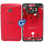HTC One,HTC M7 Rear Housing with Side Button in Red