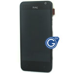 HTC Desire 300 Complete LCD with digitizer and frame in Black