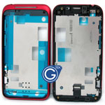 HTC incredible S G11 LCD Metal Frame Red
