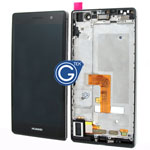 HuaWei Ascend P7 Sophia complete lcd with digitizer and frame in Black