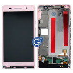Huawei Ascend P6 complete lcd with digitizer and frame in Pink