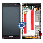 Huawei Ascend P6 complete lcd with digitizer and frame in black inc (inc.speaker ,loudspeaker ,antenna , charging flex)