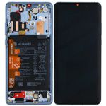 Genuine Huawei P30 Pro Complete lcd with frame, Battery, Receiver, Vibrator in Breathing Crystal - Part no: 02352PGH