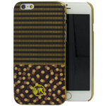 iPhone 6S/6 MK dot stripes back case in Black