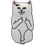 iPhone 6/6S Up u cat case in white