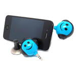 iPhone Smile Earphone splitter blue