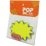 Advertising fluorescent card Write on Label - NEW- 10pcs In a Pack