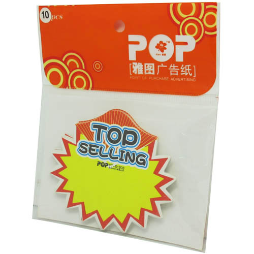 Advertising fluorescent card Write on Label - Top Selling - 10pcs In a Pack