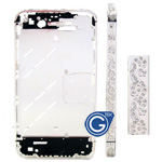 iphone 4s silver diamond swirl midframe-Replacement part (compatible)