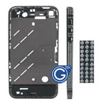 iphone 4s black bling diamond midframe-Replacement part (compatible)