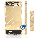 iphone 4s gold triangle style diamonds midframe-Replacement part (compatible)