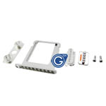 iPhone 4S silver diamond button and tray set with screw-Replacement part (compatible)