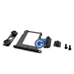 iPhone 4s black diamond button and tray set with screws-Replacement part (compatible)
