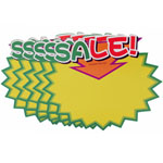 Advertising fluorescent card Write on Label - SALE(Arrow) - 10pcs In a Pack
