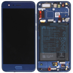 Genuine Huawei Honor 9 STF-L09 Complete lcd with frame and touchpad in Blue with Internal Battery - Part no: 02351LBV