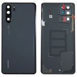 Genuine Huawei P30 Pro Battery Cover In Black with Adhesive - Part no: 02352PBU