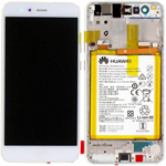 Genuine Huawei P10 Lite LCD Display / Screen + Touch + Battery Assembly - Pearl White - Part no : 02351FSB