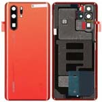 Genuine Huawei P30 Pro Battery Cover In Amber Sunrise with Adhesive - Part no: 02352PLS