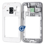 Samsung Galaxy J1 2016 SM-J120F Rear Chassis with Side Buttons in White