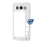 Samsung Galaxy J5 2016 SM-J510F Rear Chassis with Camera Cover in White