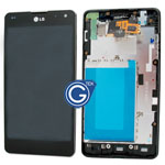 LG E973 Optimus G LCD with digitizer and frame complete in Black