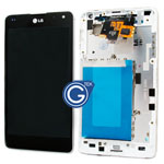 LG E973 Optimus G LCD with digitizer and frame complete in White