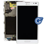 LG Optimus L9 P760 complete lcd with frame in white