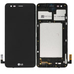 Genuine LG K4 (2017) M160 Complete lcd and touchpad in frame in Black  Part no: ACQ89888601