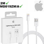 Genuine Apple Lightning Cable 2M (Retail Packed) - Part no: MD819ZM/A