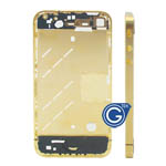 Luxury Gold Midframe for iPhone 4 with Small Parts