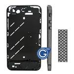 Swarovski Diamante Midframe for iPhone 4 in Graphite Grey