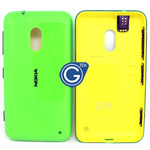 Nokia Lumia 620 Back cover with side button and earphone connector in green